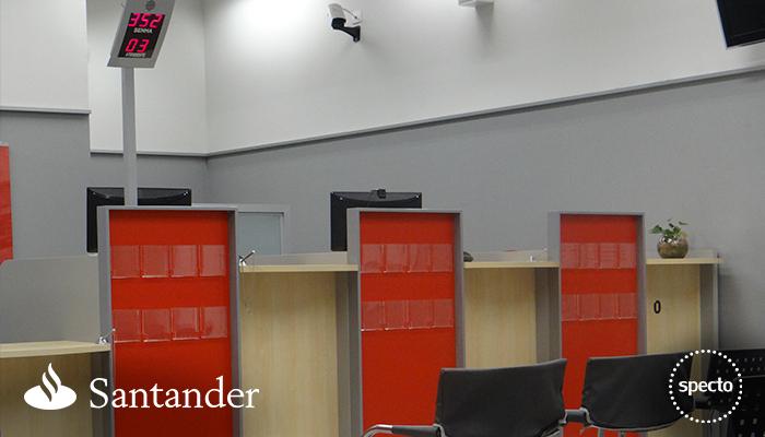 Sistema QUALPROX® de gestão de atendimento do Banco Santander